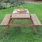 Oso Wooden Picnic Table Finish: Cedar Stain