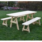 Summerhill Wooden Picnic Table Color: Unfinished, Table Top Size: 30