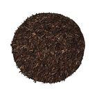 Handmade Dark Brown Area Rug Rug Size: Rectangle 3'6