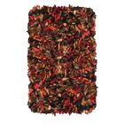 Shaggy Hand-Knotted Red/Brown Area Rug
