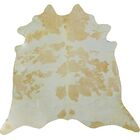 Large Brazilian Cowhide Beige/Off -White Area Rug