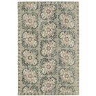 Valenzano Hand-Tufted Gray/Black Area Rug Rug Size: Rectangle 9' x 12'