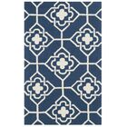 Albia Hand-Hooked Navy/Ivory Area Rug Rug Size: Rectangle 5' x 8'