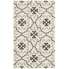Back Forty Hand-Hooked Ivory/Gray Indoor/Outdoor Area Rug Rug Size: Rectangle 5' x 8'