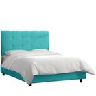 HooDoo Upholstered Panel Bed Size: California King, Color: Premier Purple