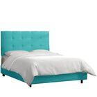 HooDoo Upholstered Panel Bed Color: Premier Lazuli Blue, Size: Full