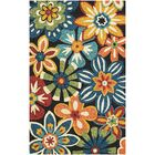 Croydon Geranium Navy Indoor/Outdoor Area Rug Rug Size: Rectangle 5'6