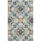 Kilbourne Hand-Tufted Wool Blue/Brown Area Rug Rug Size: Round 6'