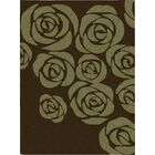 Roseland Hand-Tufted Brown/Green Area Rug Rug Size: Rectangle 5'6