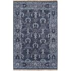 Orland Hand-Knotted Dark Purple Area Rug Rug Size: Rectangle 8' x 11'
