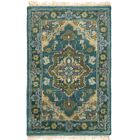Orland Hand-Knotted Blue Area Rug Rug Size: Runner 2'6