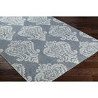 Riverview Hand-Knotted Blue/Grey Area Rug Rug Size: Rectangle 6' x 9'