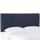 Sanford Pleated Upholstered Panel Headboard Size: Full, Upholstery: Navy