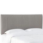 Sanford Pleated Upholstered Panel Headboard Size: Full, Upholstery: Gray