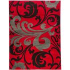 Waynesfield Fleur De Lis Red Area Rug Rug Size: Rectangle 5'3