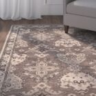 Greenview Hand-Knotted Dark Gray/Light Gray Area Rug Rug Size: Rectangle 8' x 10'