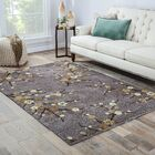 Anselmo Cherry Blossom Hand-Tufted Gray/Yellow Area Rug Rug Size: Rectangle 7'6