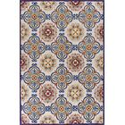 Guillory Hand-Hooked Ivory/Blue Area Rug Rug Size: Rectangle 5' x 7'6