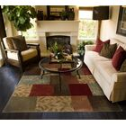 Matteson Green/Red Area Rug Rug Size: Rectangle 7'8