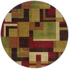 Ryles Red/Gold Area Rug Rug Size: Round 7'8