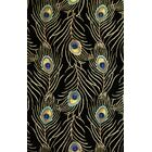 Las Cazuela Black Peacock Feathers Area Rug Rug Size: Rectangle 2'6