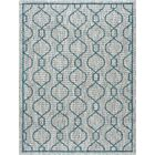 Ford Transitional Teal Indoor/Outdoor Area Rug Rug Size: 6'7'' x 9'6''