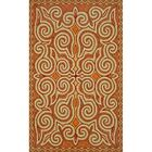 Bel Air Sunrise Kazakh Outdoor Orange Area Rug Rug Size: 5' x 7'6