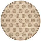 Miesha Cream/Beige Area Rug Rug Size: Round 6'7