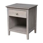 Engelmann 1 Drawer Nightstand Color: Washed Gray Taupe