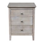 Etheridge 3 Drawer Nightstand Color: Washed Gray Taupe