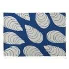 Blue Oceanic Hooked Blue  Area Rug