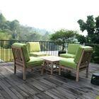 Kensington 5 Piece Teak Sofa Seating Group with Cushions