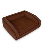 Crown Supreme Bolster Dog Bed Size: Large, Color: Dark Chocolate
