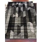Volmer Hand Carved Gray/Black Area Rug Rug Size: 5' x 7'3