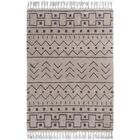 Boveney Cream/Gray Area Rug Rug Size: 5' x 7'