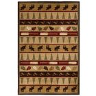 Okane Beige/Red Area Rug Rug Size: Rectangle 7'10