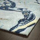 Bargas Hand Tufted Wool Blue Area Rug Rug Size: Rectangle 3'6