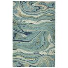 Bargas Hand Tufted Wool Teal Area Rug Rug Size: Rectangle 9'6