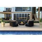 Urbana 3 Piece Sunbrella Sofa Set with Cushions Fabric: Cast Lagoon