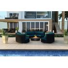 Urbana 3 Piece Sunbrella Sofa Set with Cushions Fabric: Spectrum Peacock