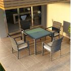 District 5 Piece Sunbrella Dining Set with Cushions Color: Canvas Flax