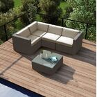 Element 5 Piece Teak Sectional Set with Sunbrella Cushions Fabric: Cast Silver