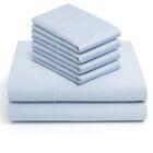 6 Piece 1000 Thread Count Sheet Set Color: Blue, Size: King