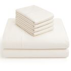 6 Piece 1000 Thread Count Sheet Set Color: Ivory, Size: Queen