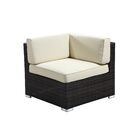 Elsmere 9 Piece Sectional Set with Cushions Fabric: Beige, Color: Java