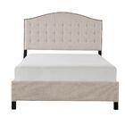 Madison Upholstered Panel Bed Size: King