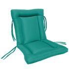 European Quilt Indoor/Outdoor Sunbrella Chair Cushion Fabric: Aruba