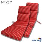 Indoor/Outdoor Sunbrella Chaise Cushion Fabric: Crimson