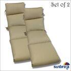 Indoor/Outdoor Sunbrella Chaise Cushion Fabric: Herbal Vellum Rib