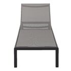 Chaise Lounge Fabric/Finish: Gray/Black